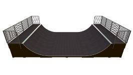 Skaterampe halfpipe Base MR 01 C
